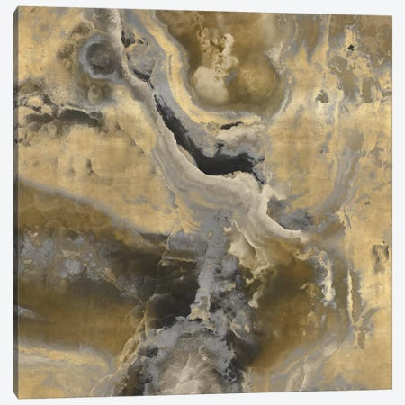 Stone With Gold And Gray II Canvas Print #DAC99} by Danielle Carson Canvas Artwork