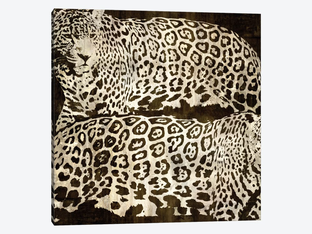 Leopards by Darren Davison 1-piece Canvas Artwork