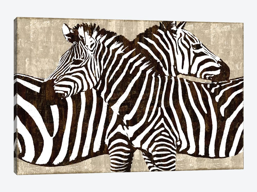 Zebra Gathering 1-piece Canvas Art Print