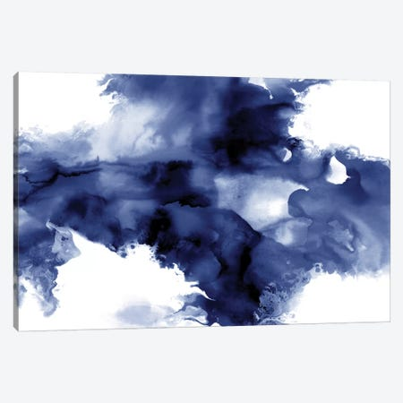 Derive In Indigo I Canvas Print #DAH11} by Daniela Hudson Canvas Art Print