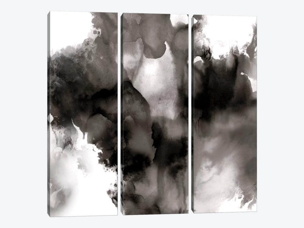 Derive Noir II by Daniela Hudson 3-piece Canvas Art