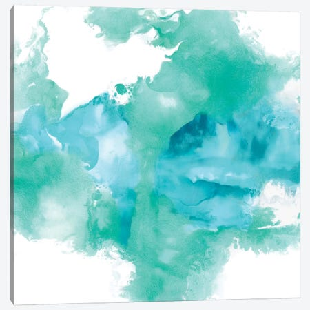 Ascending In Aqua Canvas Print #DAH1} by Daniela Hudson Canvas Print
