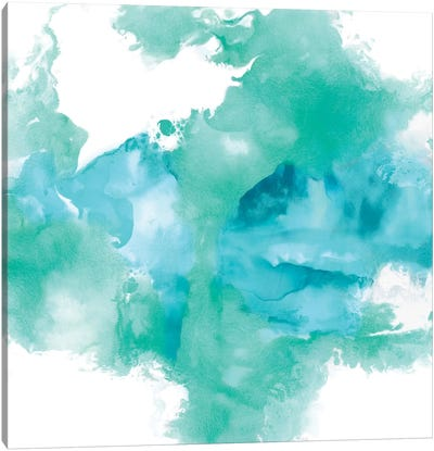 Ascending In Aqua Canvas Art Print