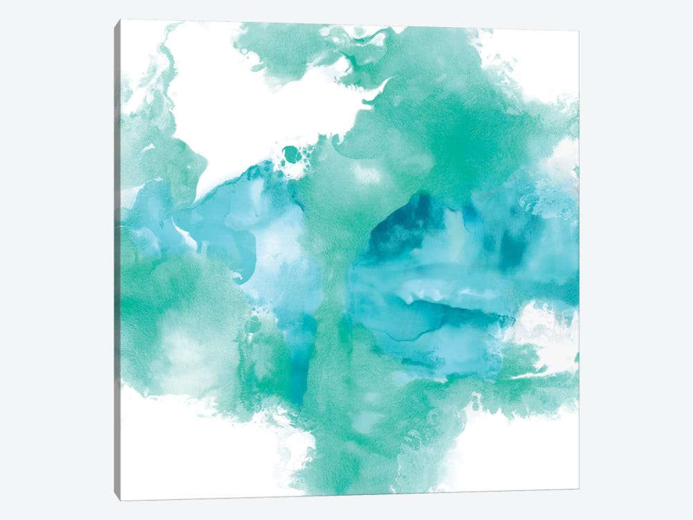 Ascending In Aqua by Daniela Hudson 1-piece Canvas Art Print