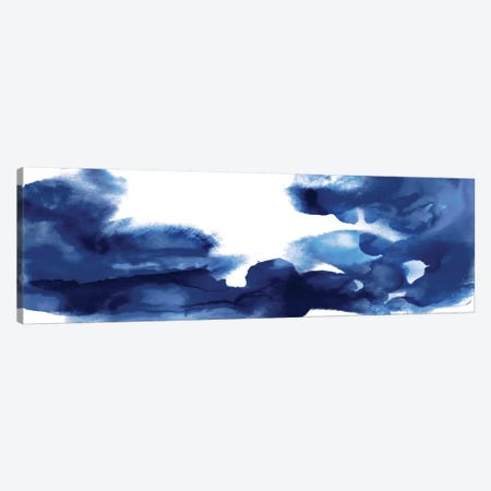 Movement In Indigo Canvas Print #DAH22} by Daniela Hudson Canvas Art