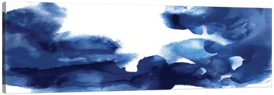 Movement In Indigo Canvas Art Print