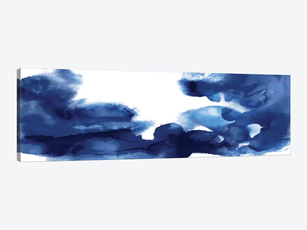 Movement In Indigo 1-piece Canvas Artwork