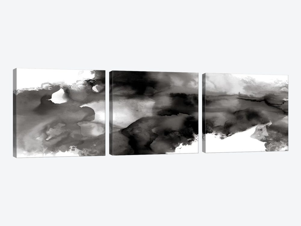 Movement Noir by Daniela Hudson 3-piece Canvas Art Print