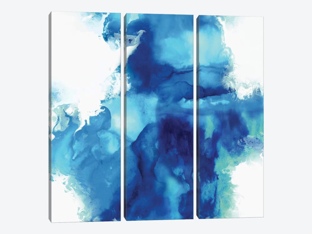 Ascending In Blue I 3-piece Canvas Artwork