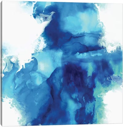 Ascending In Blue I Canvas Art Print