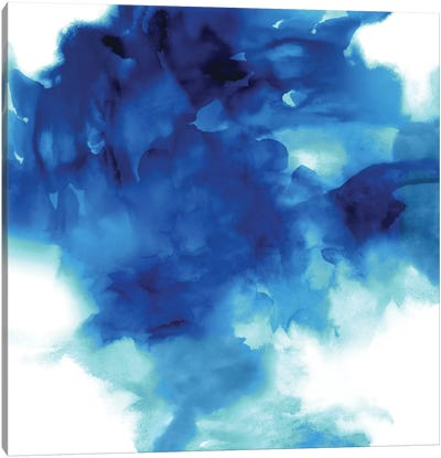 Ascending In Blue II Canvas Art Print
