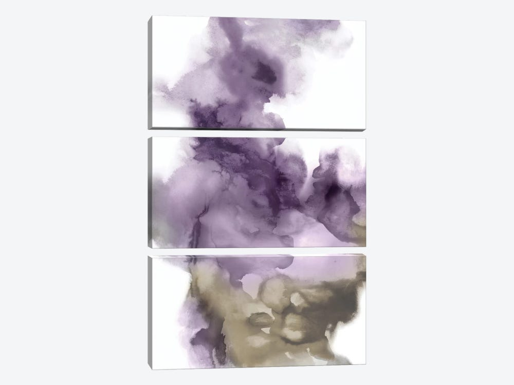 Derive In Amethyst I by Daniela Hudson 3-piece Canvas Wall Art