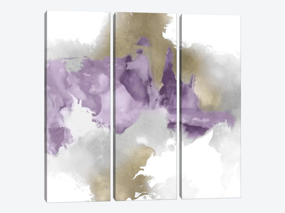 Derive In Amethyst II by Daniela Hudson 3-piece Art Print