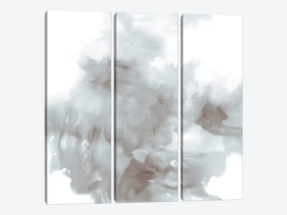 Derive In Grey II by Daniela Hudson 3-piece Canvas Print