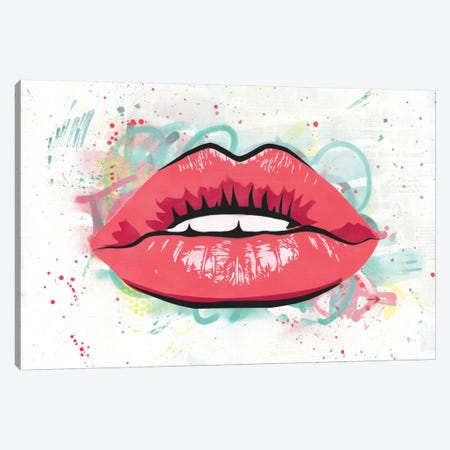 Kiss Canvas Print #DAK11} by Dakota Dean Canvas Wall Art