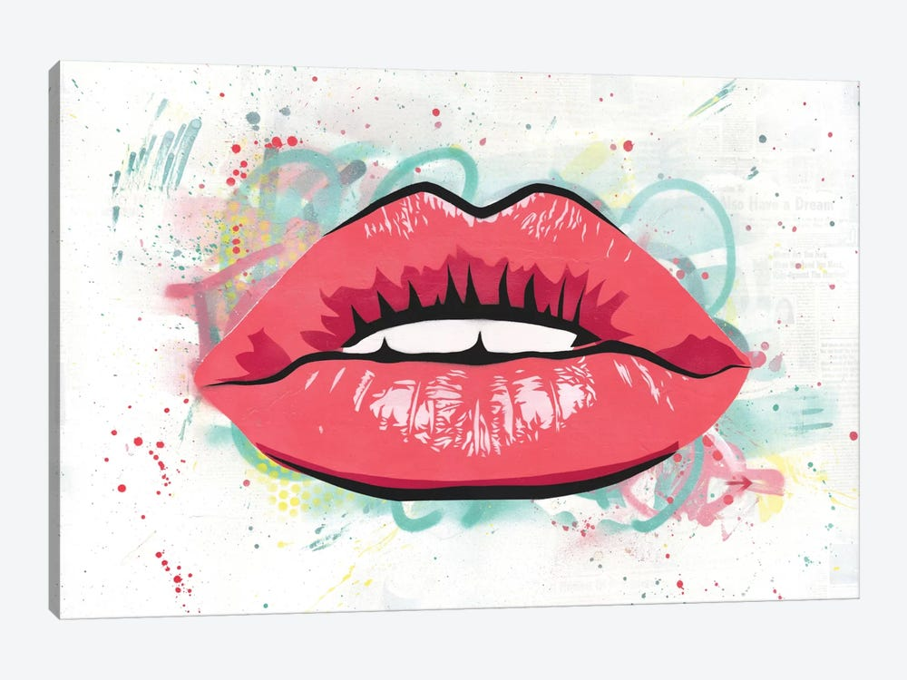 Kiss by Dakota Dean 1-piece Canvas Wall Art