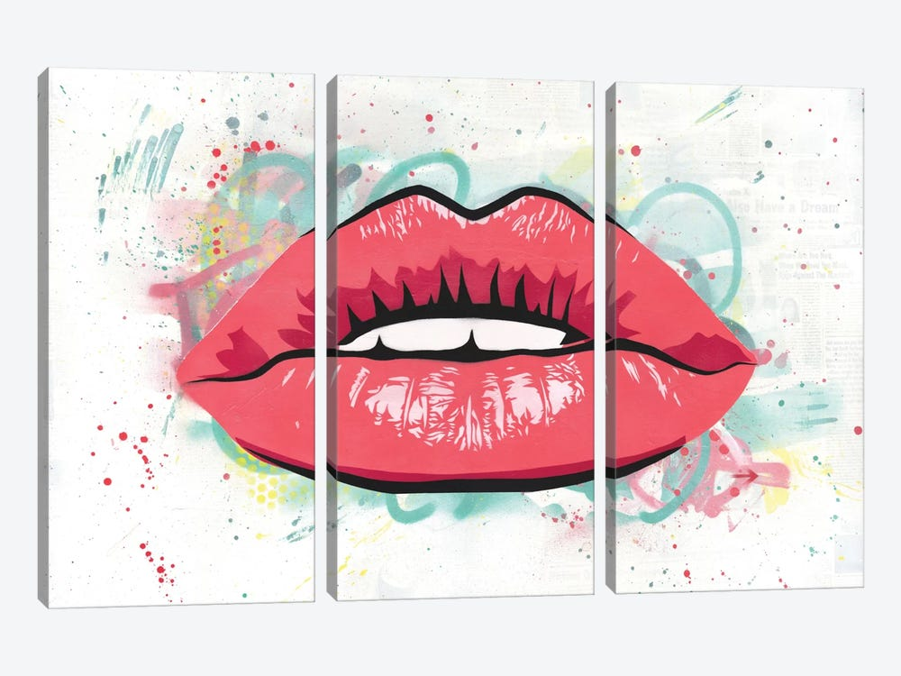 Kiss by Dakota Dean 3-piece Canvas Artwork