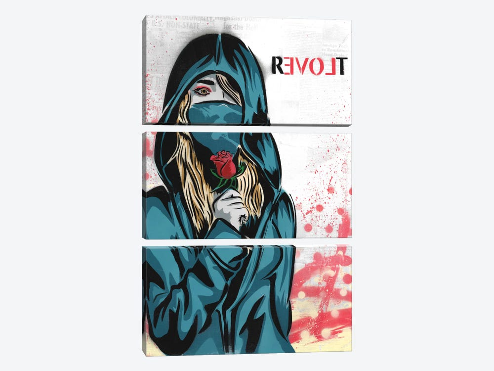 Revolt 3-piece Canvas Art