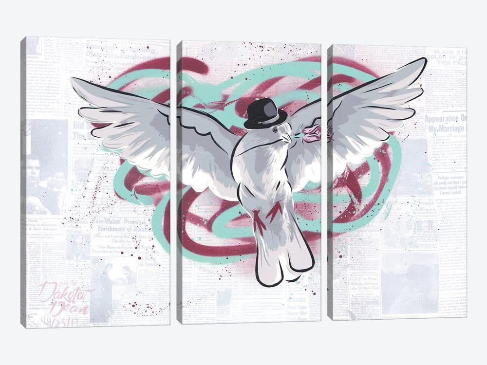 Mr. Dove by Dakota Dean 3-piece Canvas Art Print