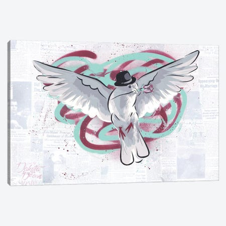 Mr. Dove Canvas Print #DAK23} by Dakota Dean Art Print