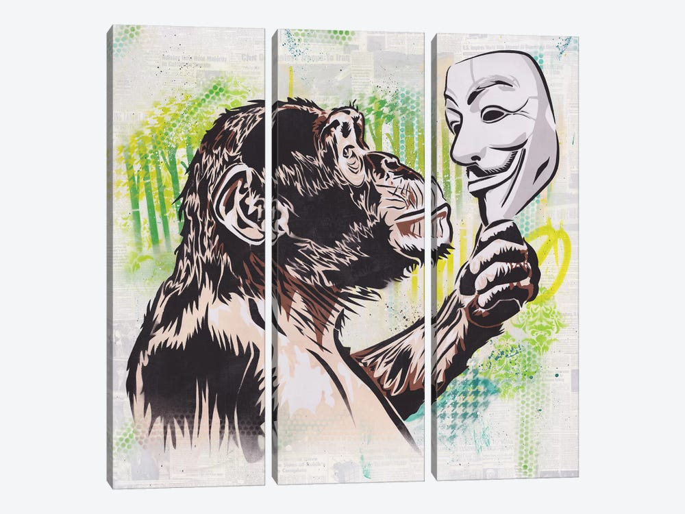 (R)evolution by Dakota Dean 3-piece Canvas Artwork