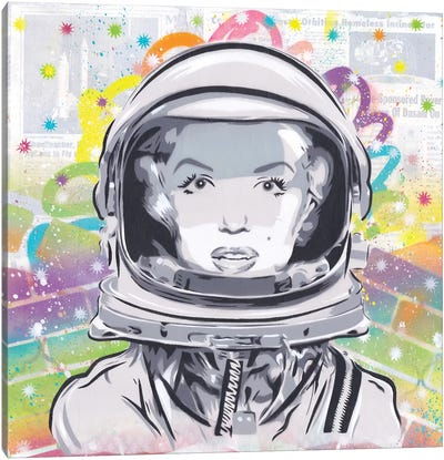 Astro Monroe Canvas Art Print