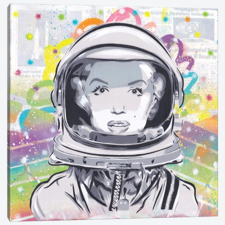 Astro Monroe Canvas Print #DAK27} by Dakota Dean Canvas Wall Art