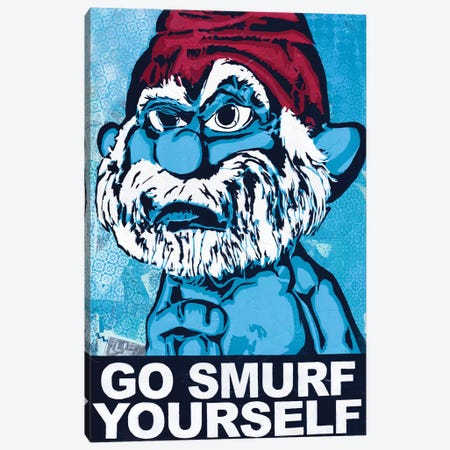 Go Smurf Yourself Canvas Print #DAK30} by Dakota Dean Canvas Art