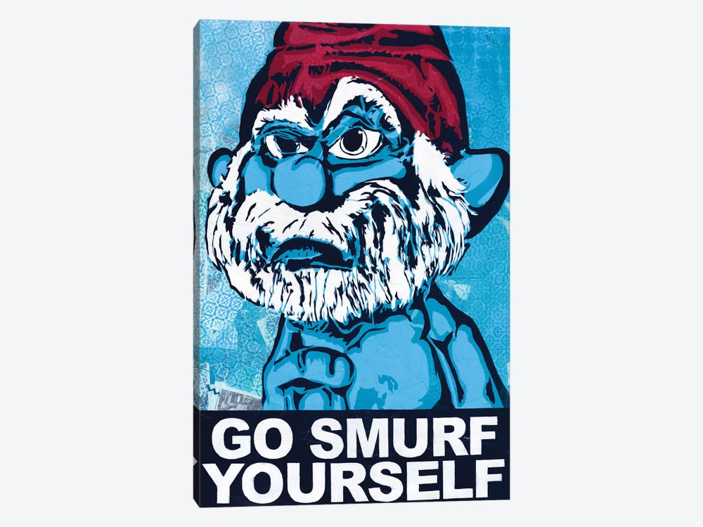 Go Smurf Yourself by Dakota Dean 1-piece Canvas Art Print