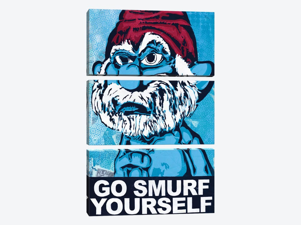 Go Smurf Yourself by Dakota Dean 3-piece Canvas Art Print