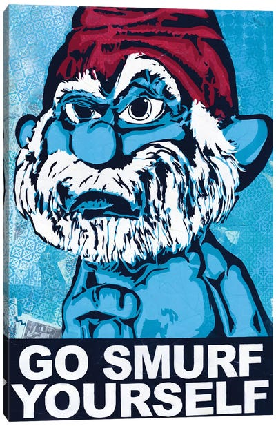 Go Smurf Yourself Canvas Art Print
