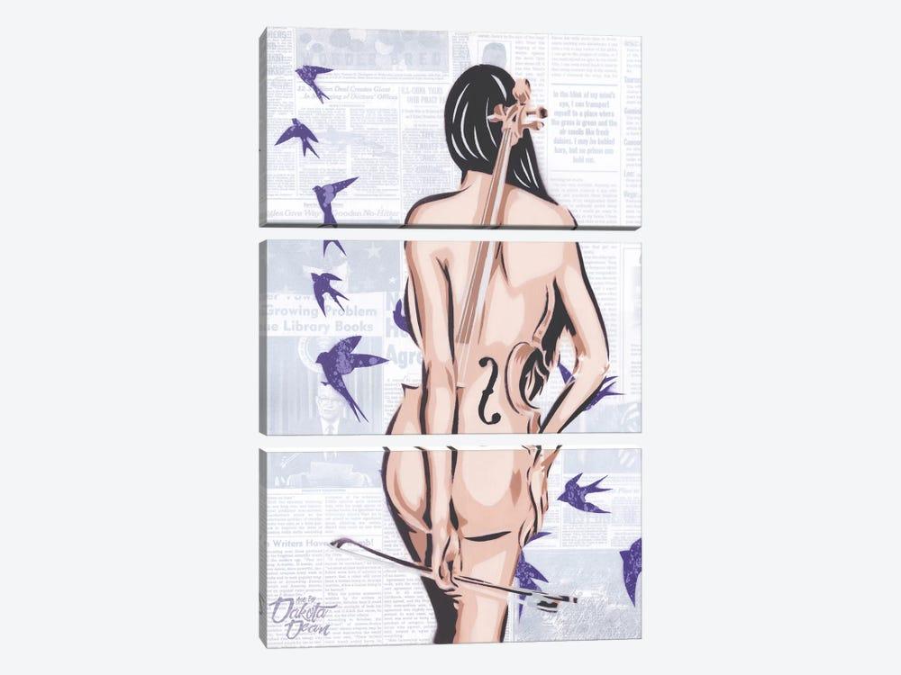 Cello by Dakota Dean 3-piece Art Print