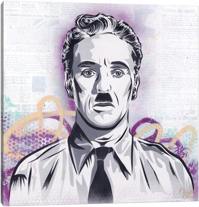 Chaplin - The Great Dictator Canvas Art Print