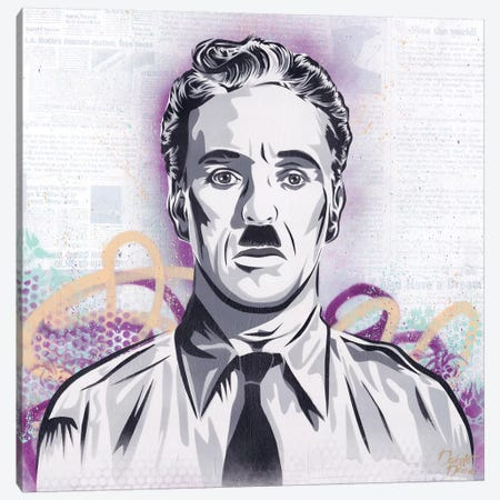 Chaplin - The Great Dictator Canvas Print #DAK48} by Dakota Dean Canvas Print