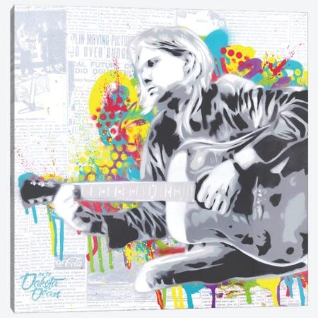 Cobain Canvas Print #DAK49} by Dakota Dean Art Print