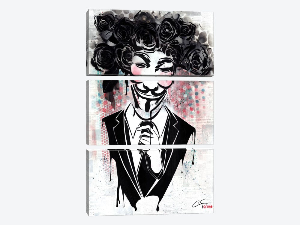 Anonymous by Dakota Dean 3-piece Canvas Print