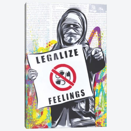 Legalize Feelings Canvas Print #DAK51} by Dakota Dean Canvas Wall Art