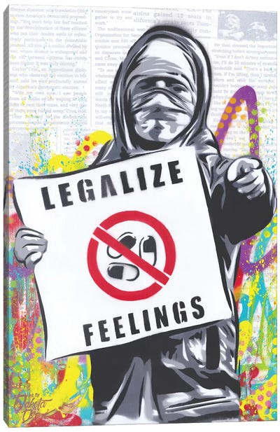 Legalize Feelings Canvas Art Print
