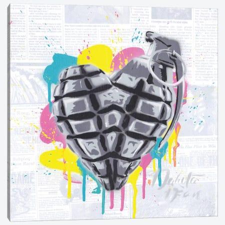 Love is A Weapon Canvas Print #DAK53} by Dakota Dean Canvas Artwork
