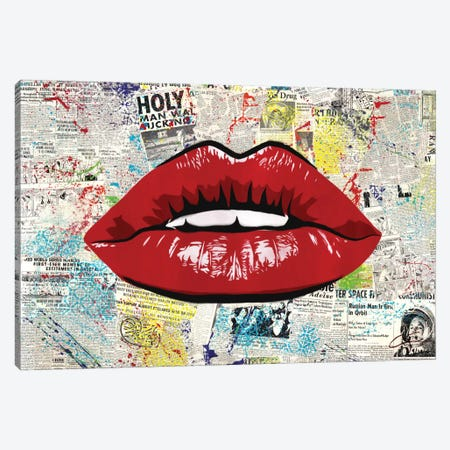 First Kiss Canvas Print #DAK9} by Dakota Dean Canvas Artwork