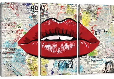 First Kiss Canvas Art Print