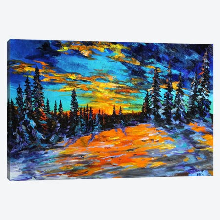 Sunset Slope Canvas Print #DAL100} by Lindsey Dahl Canvas Art