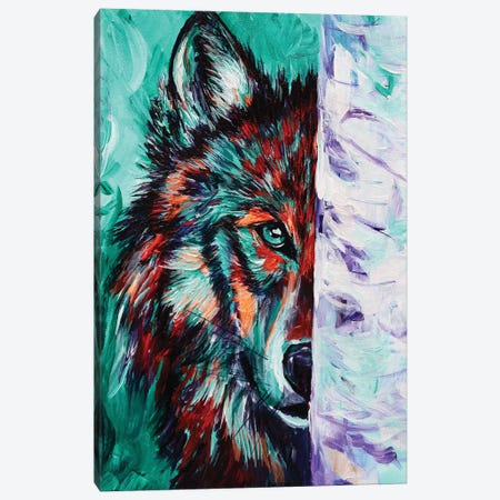 Wolf Canvas Print #DAL114} by Lindsey Dahl Canvas Wall Art