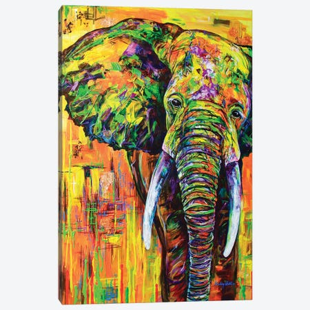 Yellowfant Canvas Print #DAL116} by Lindsey Dahl Canvas Wall Art