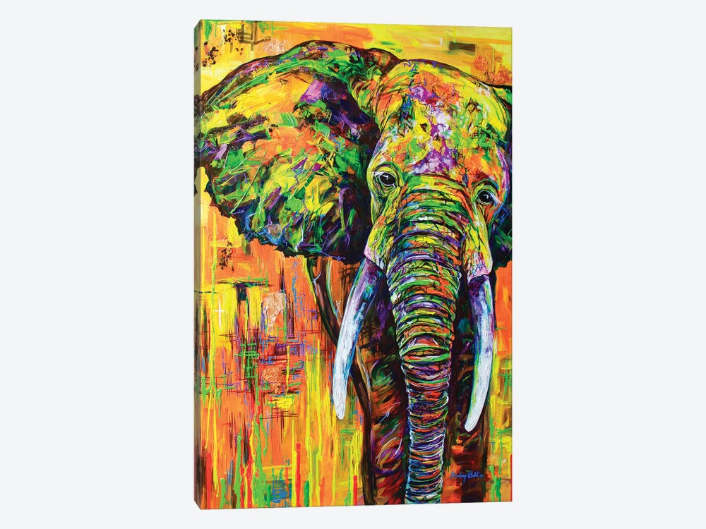 Yellowfant by Lindsey Dahl 1-piece Canvas Artwork