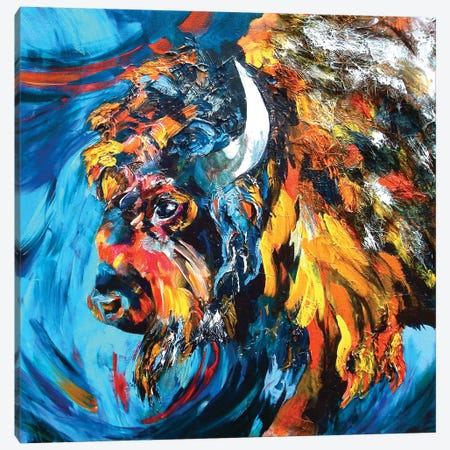 Buffalo 3-Piece Canvas #DAL11} by Lindsey Dahl Art Print