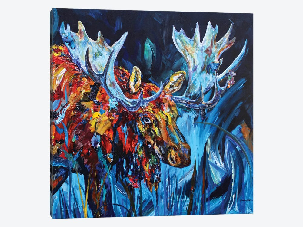 Bull by Lindsey Dahl 1-piece Canvas Art