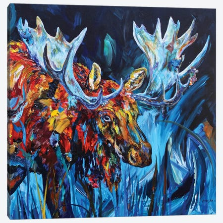 Bull Canvas Print #DAL12} by Lindsey Dahl Canvas Art Print