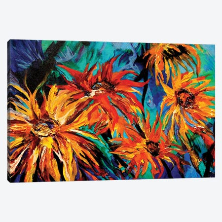 Sunflowers Canvas Print #DAL139} by Lindsey Dahl Canvas Art Print
