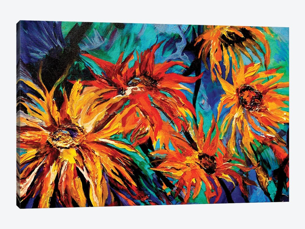 Sunflowers by Lindsey Dahl 1-piece Canvas Print